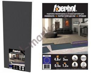Подложка Aberhof (Аберхоф), листовая 1м*0.5м, толщина 3мм (упаковка: 10шт, 5.25м2)